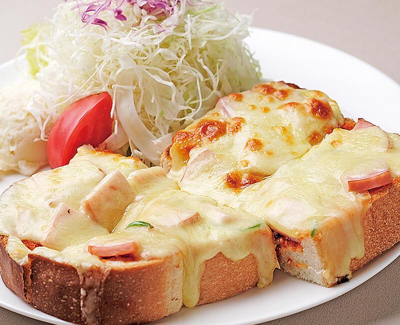 ピザトースト(サラダ付)イメージ