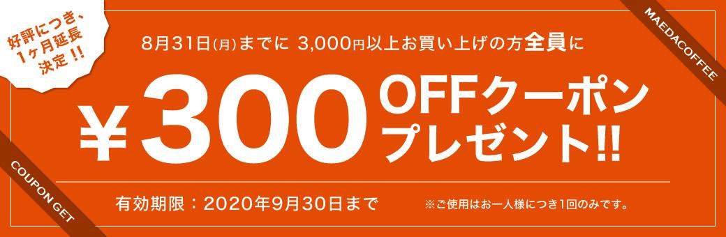 クーポン300円OFFPC用