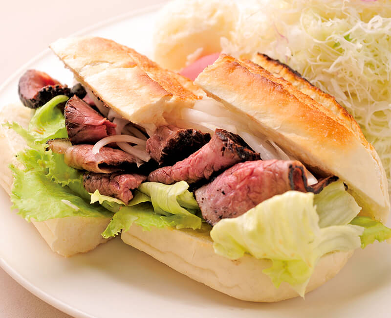 Roast beef sandwiches with Salad Image
