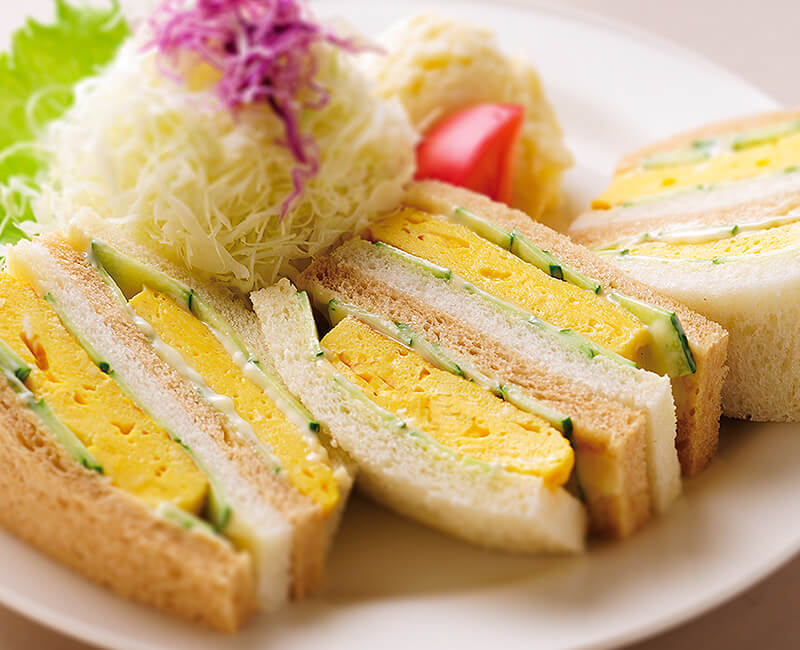 Omelet Sandwiches with salad Image
