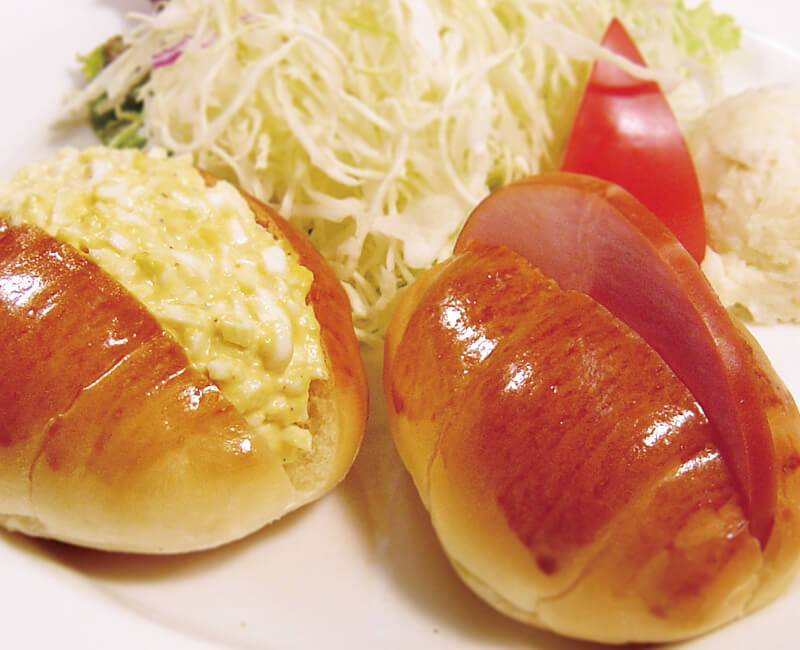 Roll sandwiches set with Salad Image