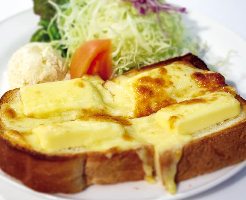 Cheese toast with Salad Image