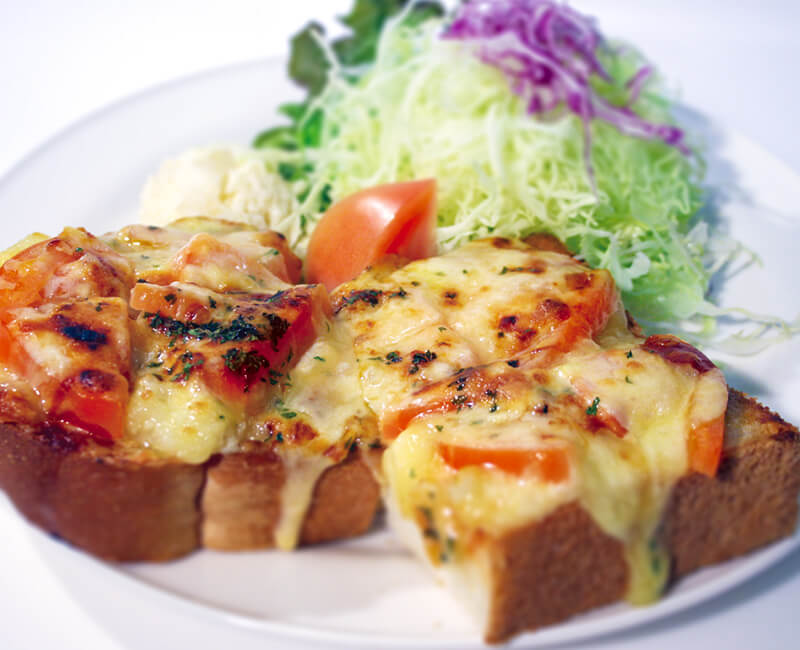 Potato & Cheese toast with Salad Image