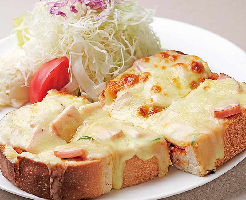 Pizza toast with Salad Image